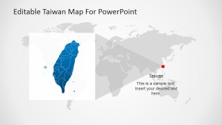 Taiwan's Position on the World Map