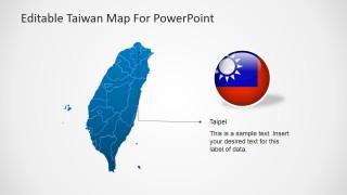 Taipei's Location Clipart