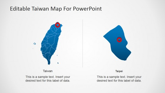 Extracted Taipei from Taiwan Map