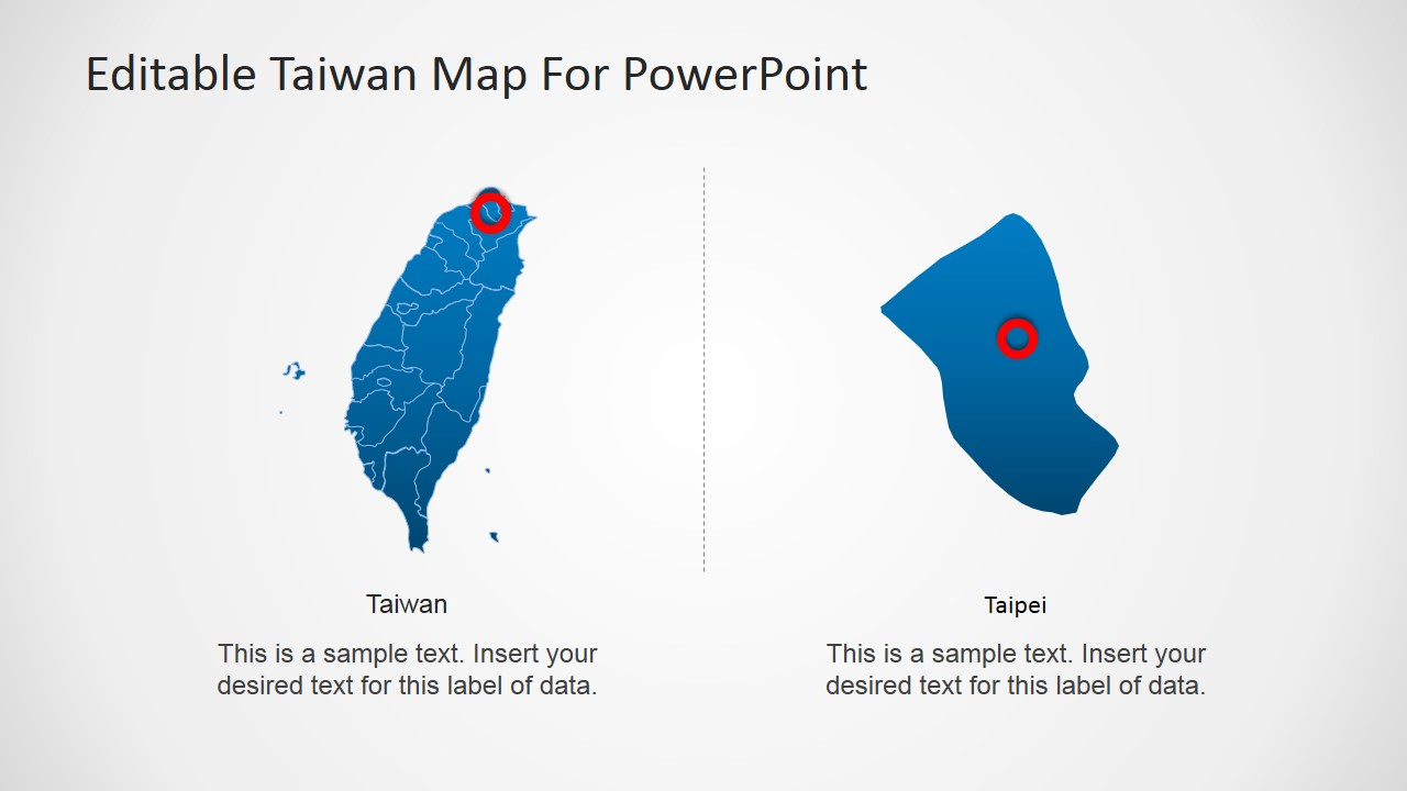 Magnified Clipart of Taipei, Taiwan