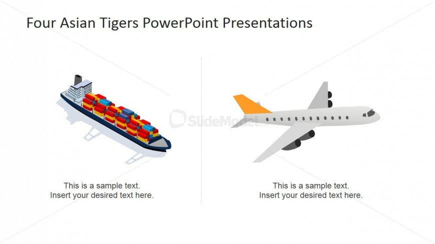 Trade and Logistics PowerPoint Shapes