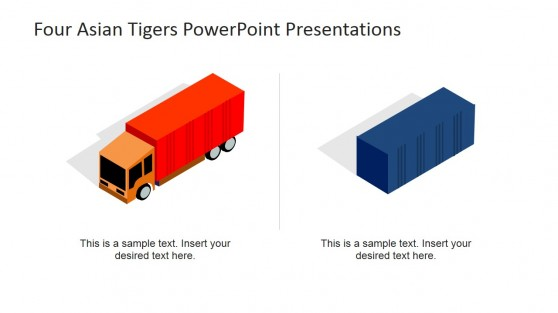 Truck and Container PowerPoint Clipart
