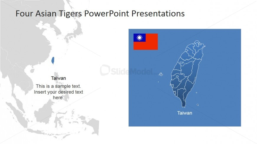 PowerPoint Map of Taiwan and Southeast Asia