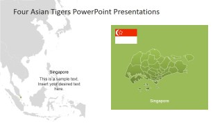 PowerPoint Map of Singapore and Southeast Asia