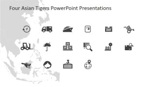PowerPoint Icons Flat Design Trade and Logistics