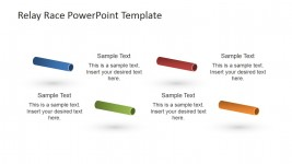 Multi-Colored Batons PowerPoint Icons