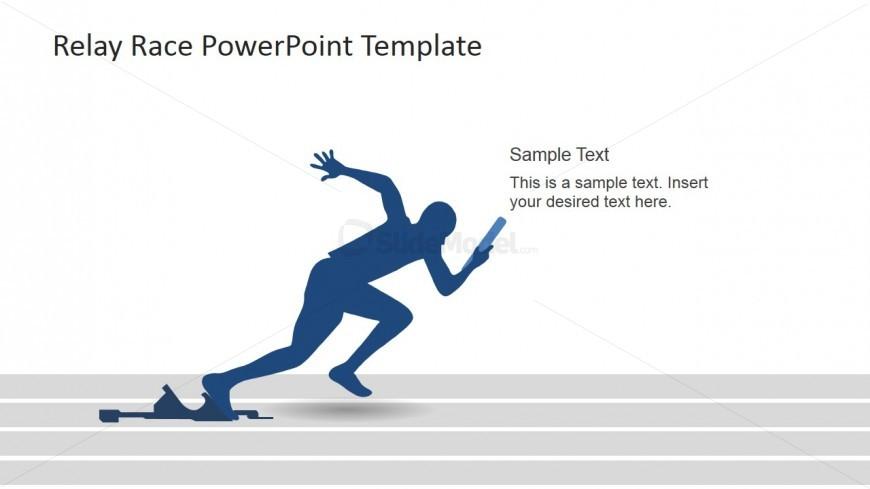 A Runner Sprinting Scene for PowerPoint