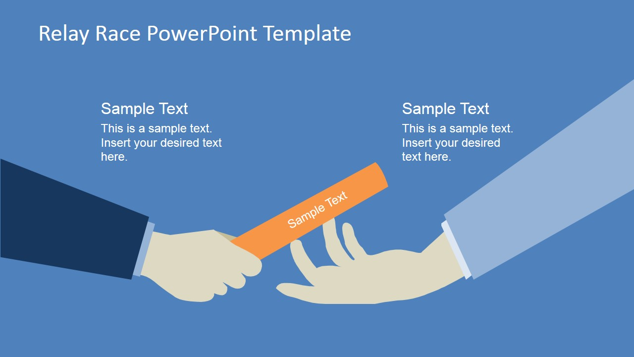 Handing the Baton PowerPoint Clipart Scene