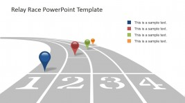 Race Track with Multi-Colored GPS Icons for PowerPoint