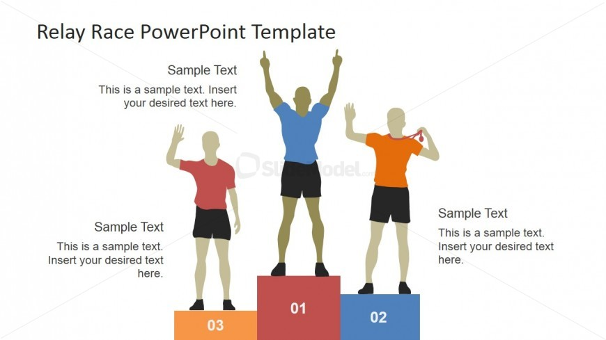 Runners on the Podium PowerPoint Shapes