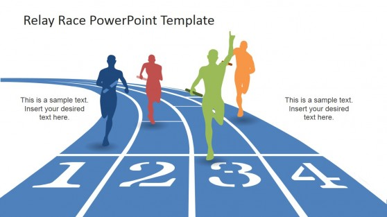 Reaching the Finish Line PowerPoint Design