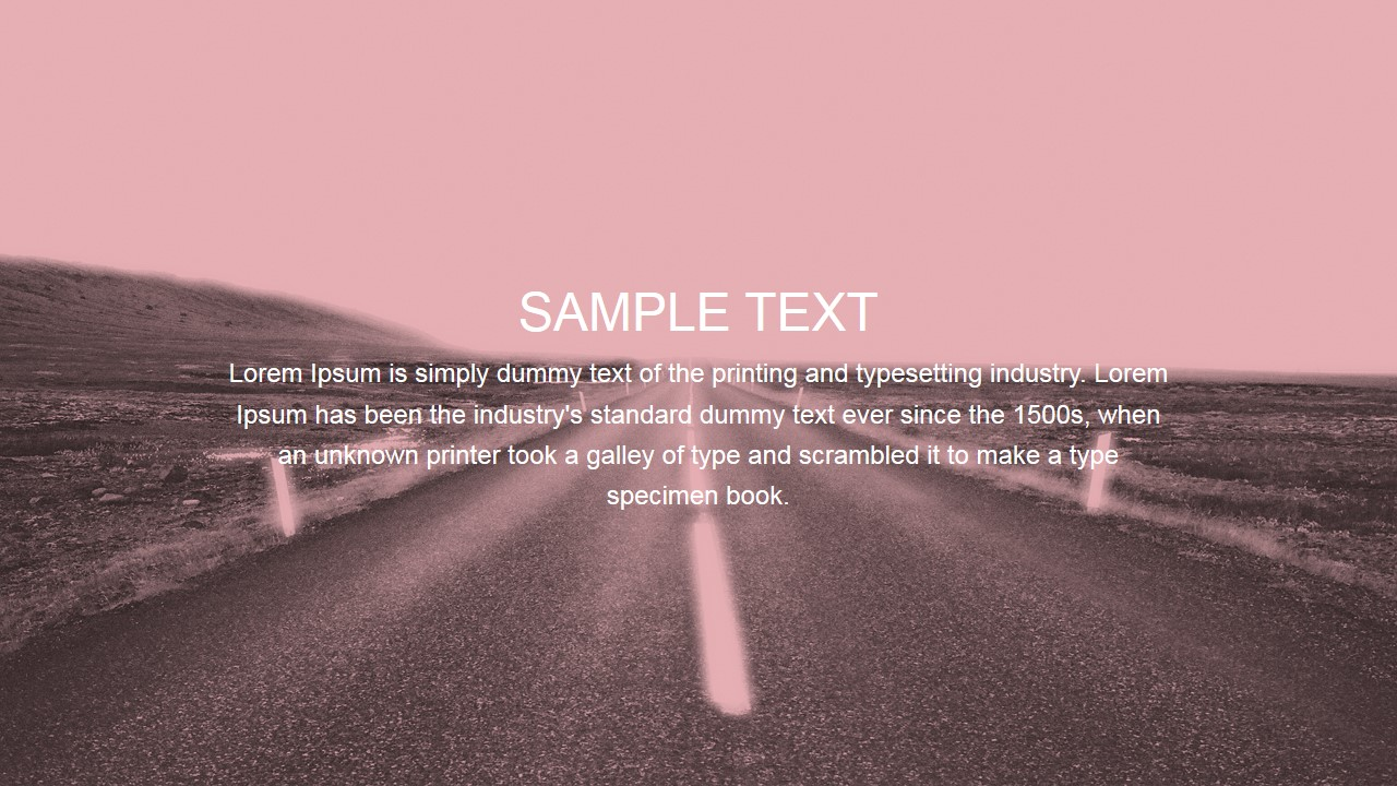 Highway to Horizon Scene with Text Placeholder