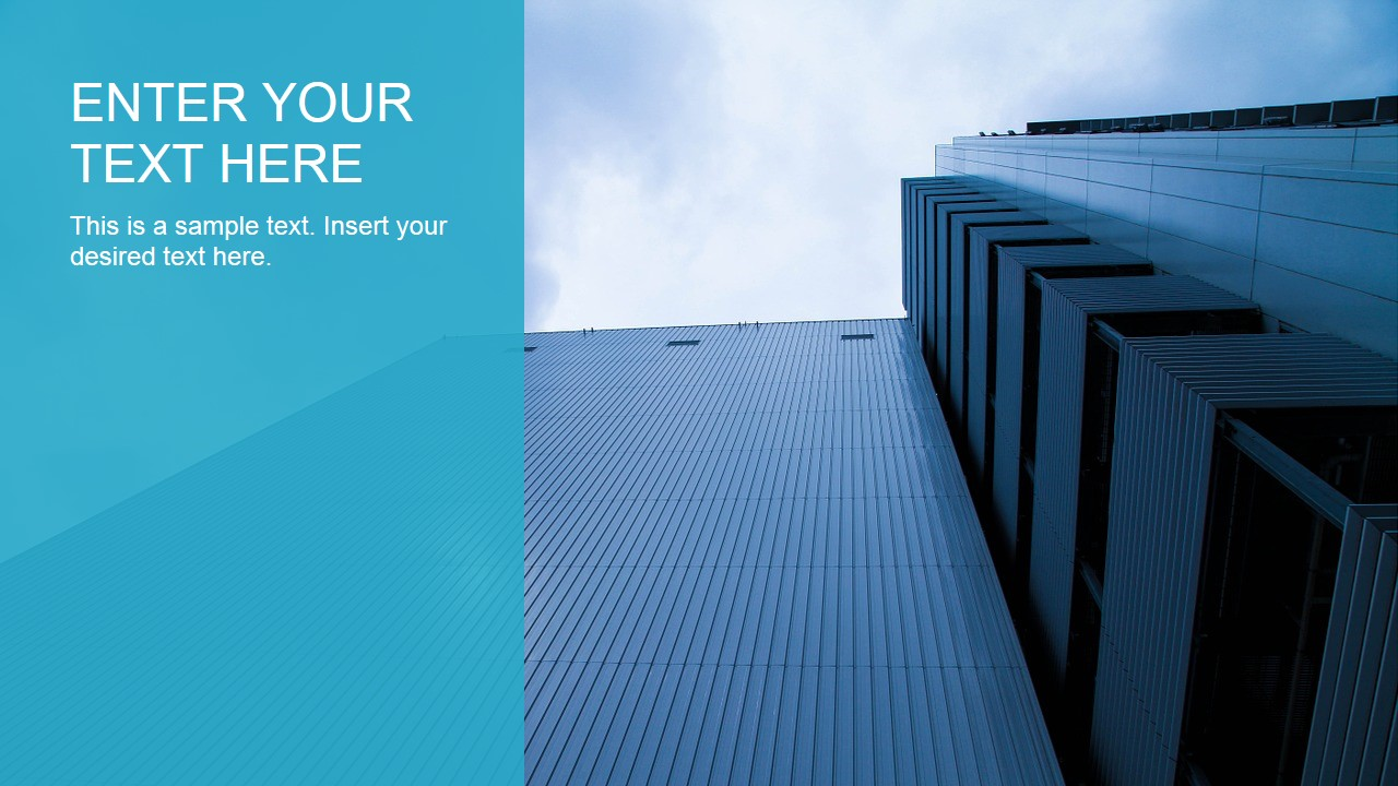 Tall Building Scene with Text Placeholder