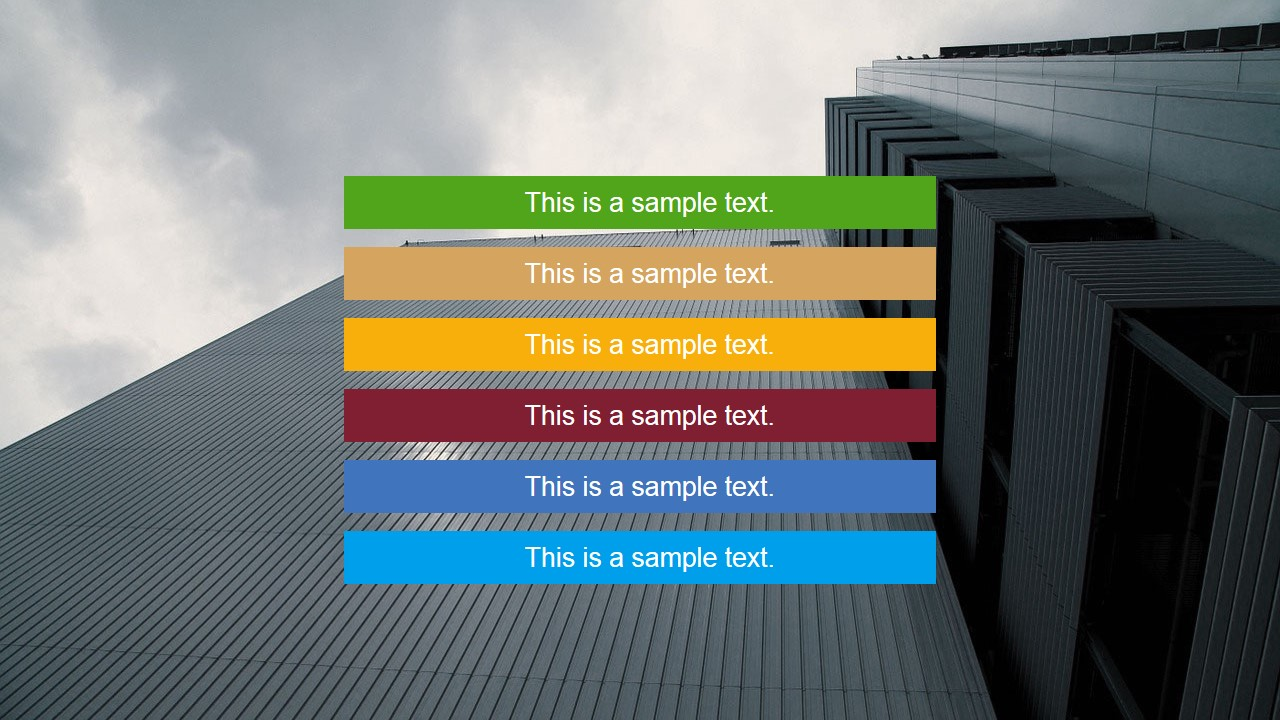 Flat tiles powerpoint template slidemodel multi coloured placeholder in skyscraper backdrop toneelgroepblik Gallery