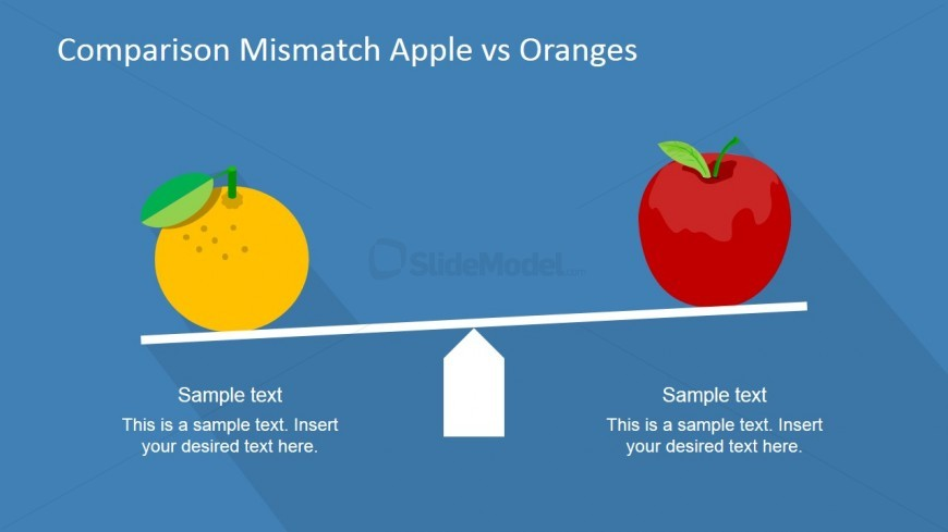Compare Apple and Orange Idiom PowerPoint Template