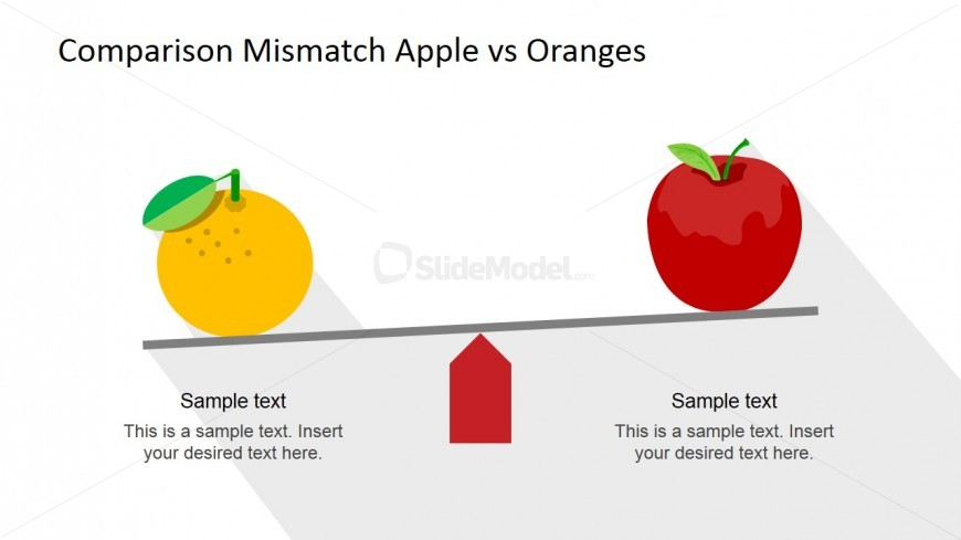Material Design Orange and Apple Clipart Compared in Flat Scale