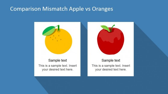 Compare Apples and Oranges Shapes for PowerPoint