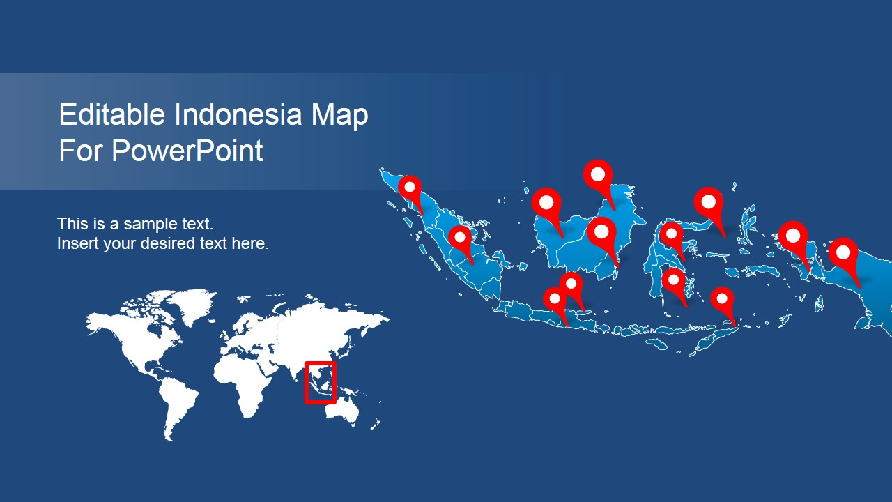 Slide of Indonesia Cover PowerPoint Map