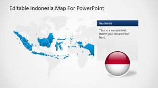 PowerPoint World Map Background and Indonesia