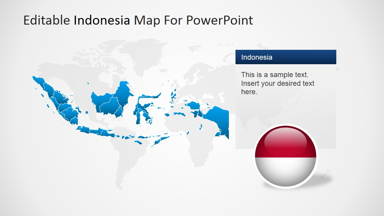 Editable indonesia powerpoint map slidemodel powerpoint world map background and indonesia gumiabroncs Images