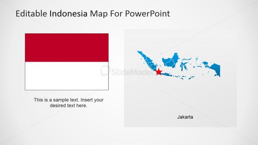 PowerPoint Indonesia Map with Jakarta Marker