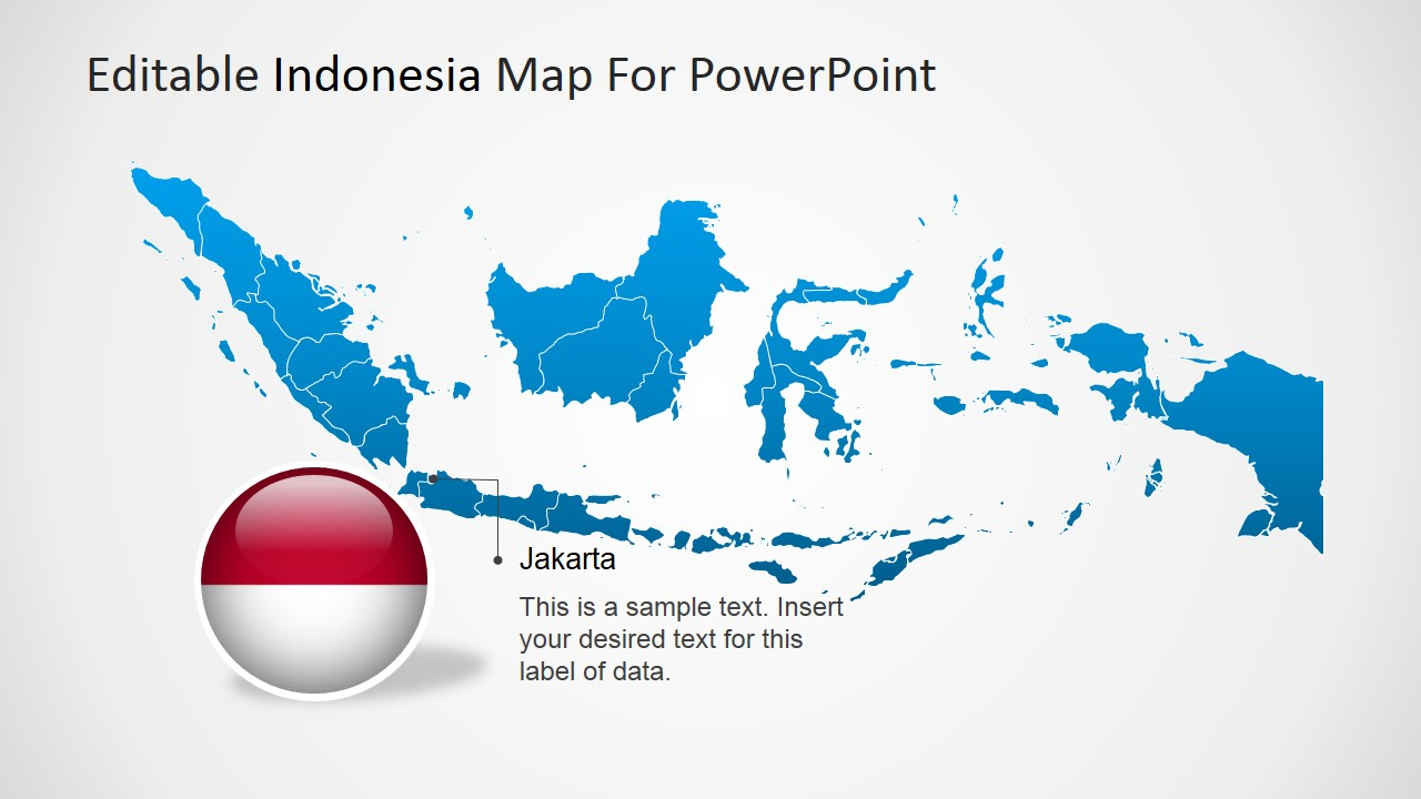 Editable indonesia powerpoint map slidemodel world powerpoint map of indonesia with jakarta text gumiabroncs Choice Image
