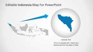PowerPoint Map of Indonesia with State Highlighted