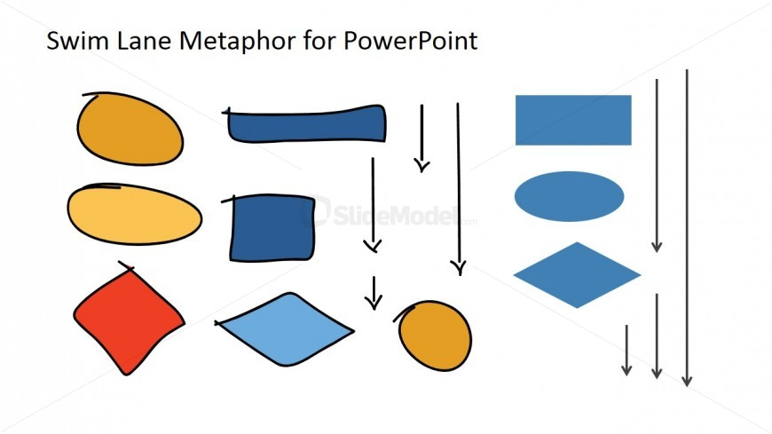Hand Drawn Swim Lane Workflow Icons for PowerPoint