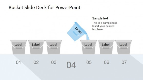 Seven Steps Bucketing PowerPoint Diagram