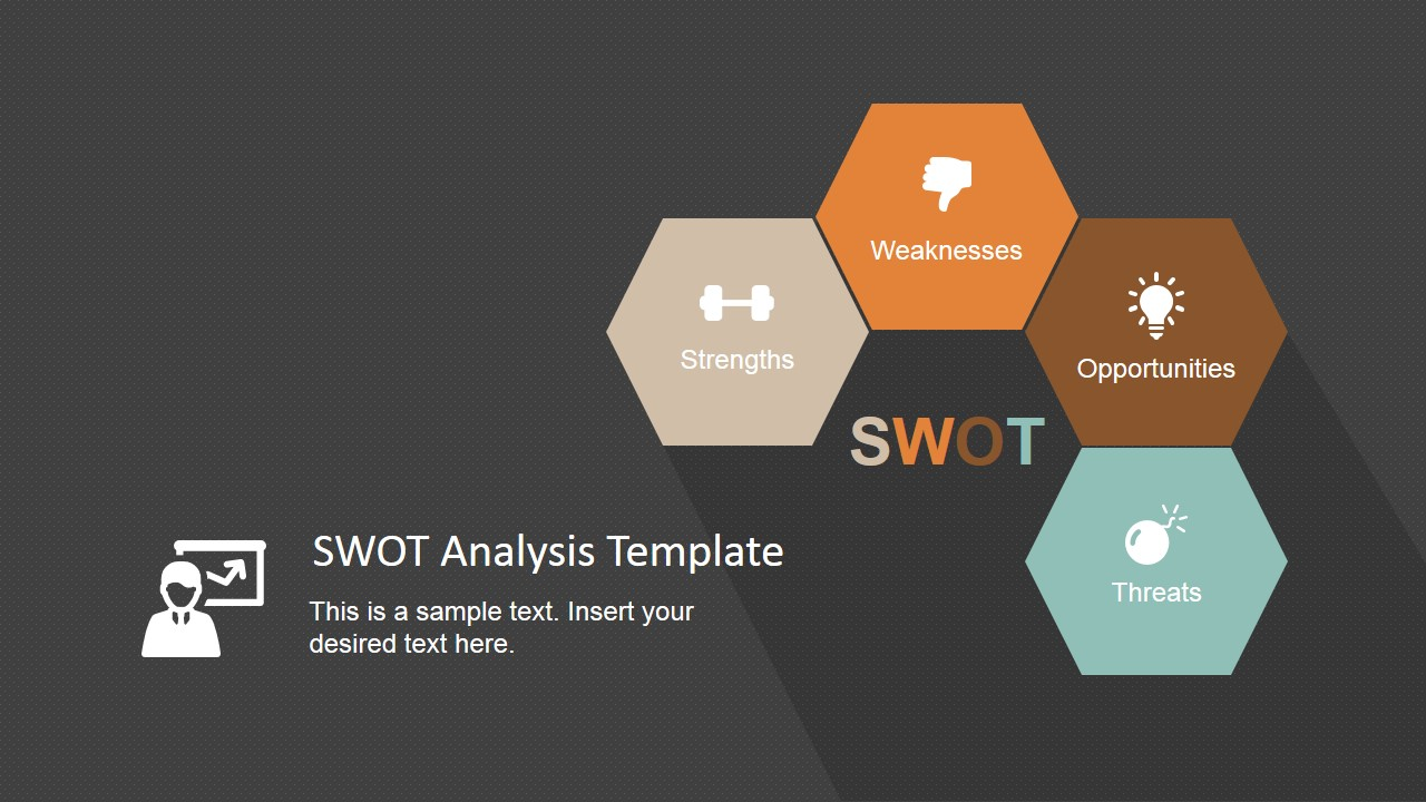 Flat Design SWOT Analysis PowerPoint Template