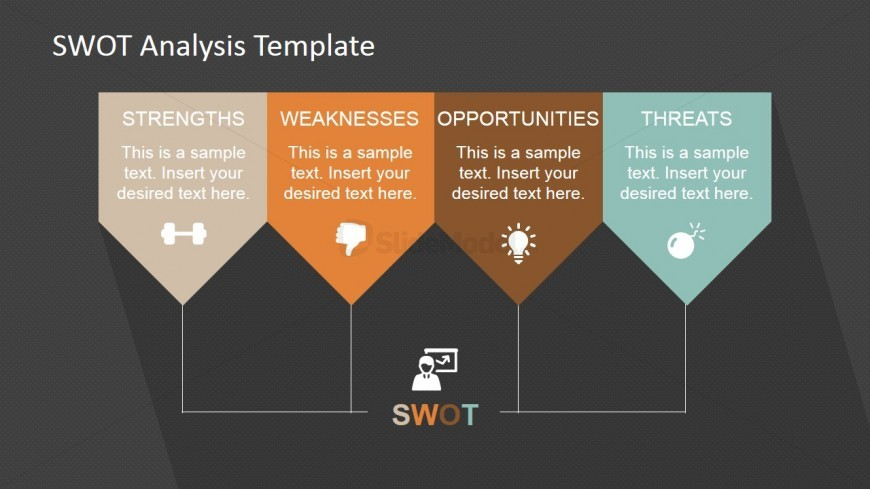 PowerPoint SWOT Analysis Linear Design