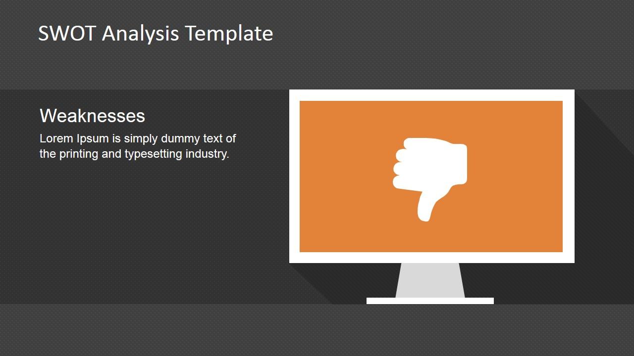 PowerPoint Slide Thumb Down Metaphor Weaknesses