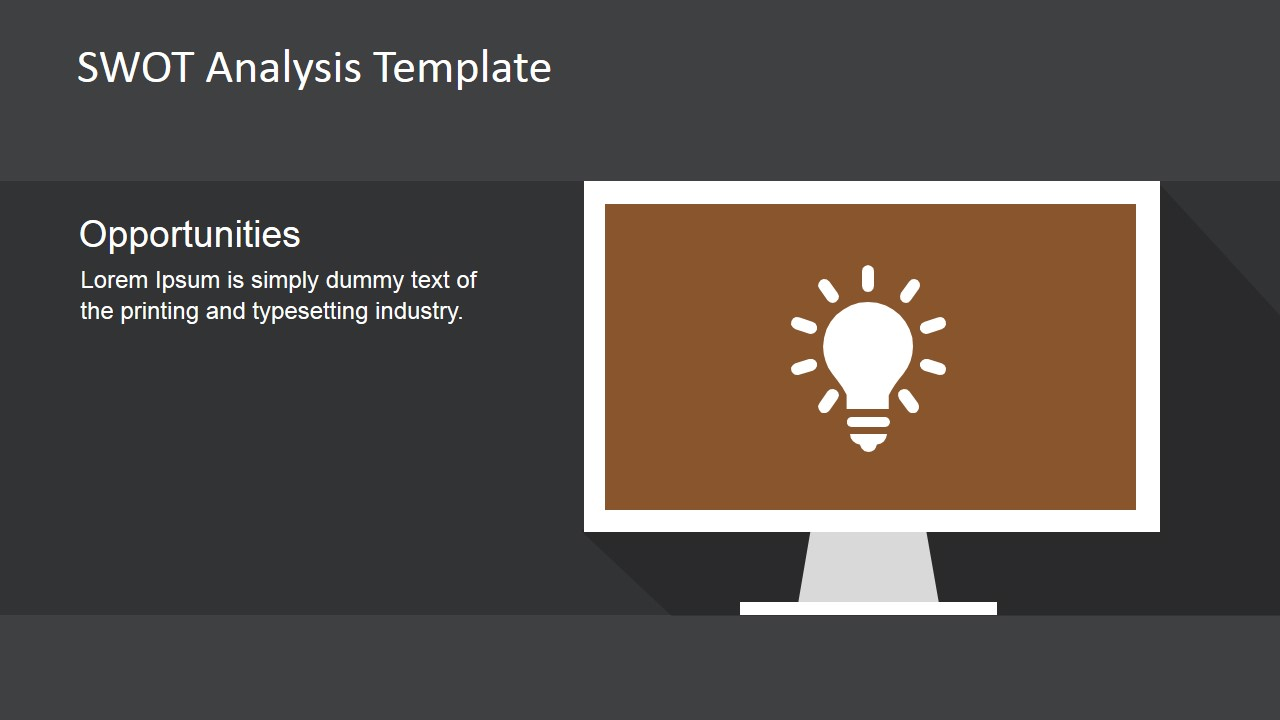 PowerPoint Opportunities Slide with Lightbulb Icon