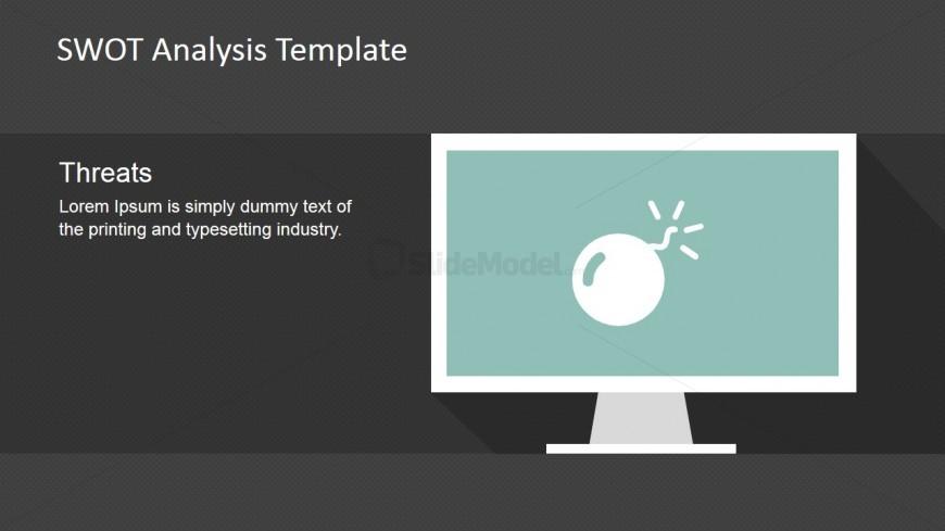 PowerPoint Slide Threat Bomb PowerPoint Icon