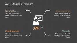 Modern SWOT Quadrants Design for PowerPoint
