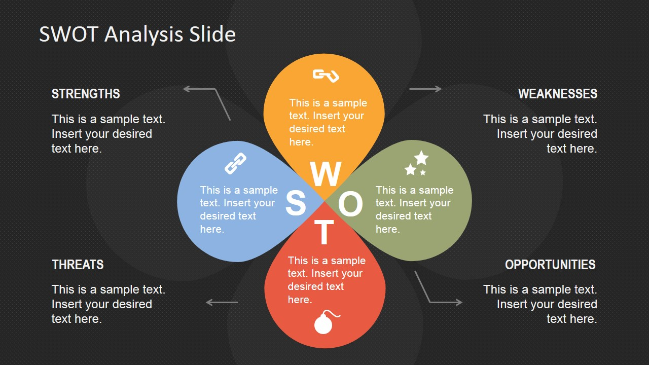 petals swot analysis powerpoint template