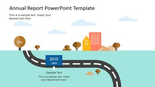 Annual Roadmap Slide Design for PowerPoint