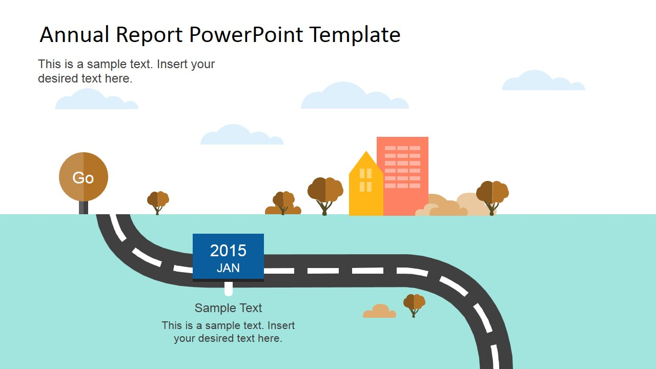 Flat Annual Report Powerpoint Template