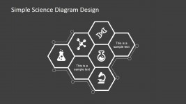 Science Diagram Design with Hexagons