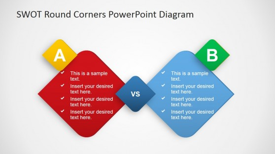 Two Option Comparison PowerPoint Template