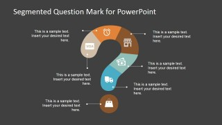Segmented Question Mark Design for PowerPoint