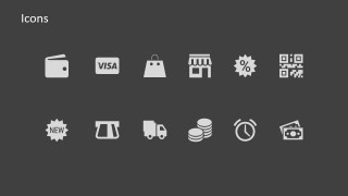 PowerPoint Icons Featuring Purchase Process