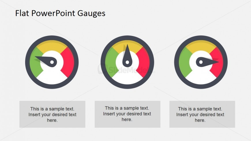 Flat Colorful Gauges for PowerPoint