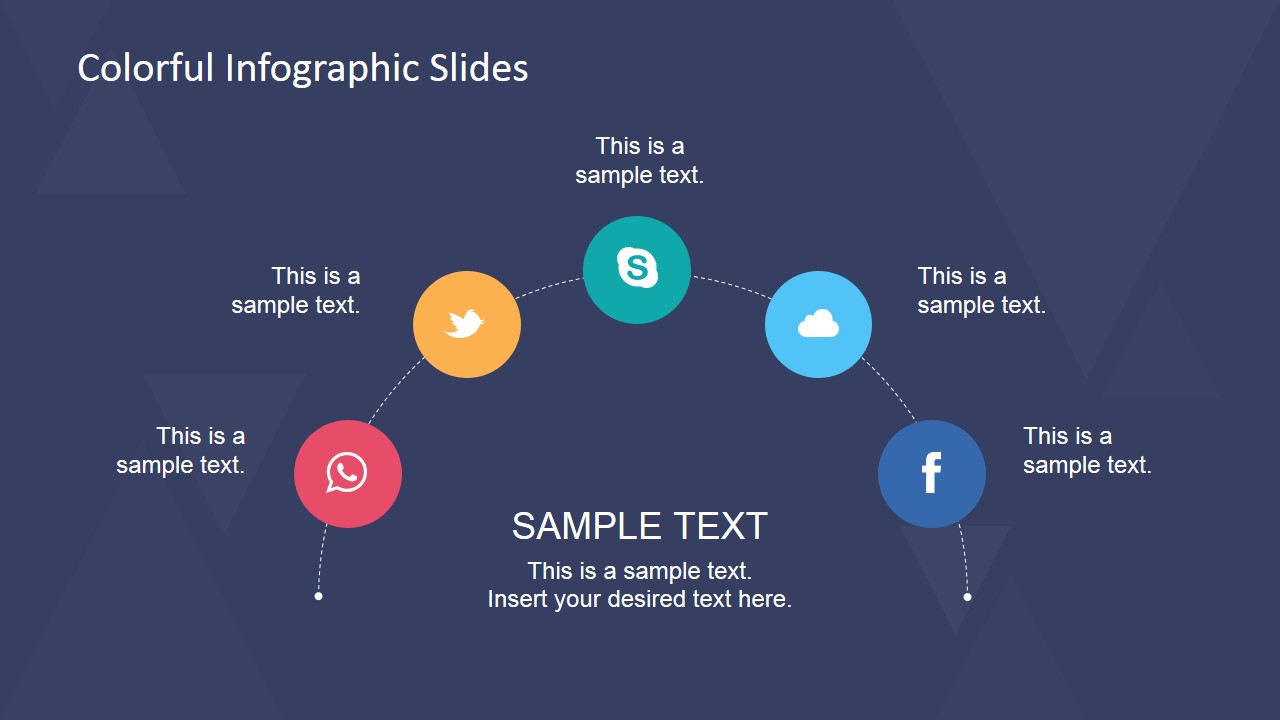 Semicircle Concept Design for PowerPoint with Social Icons