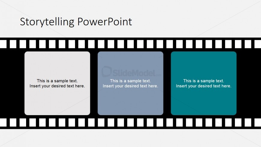PowerPoint Film Shape with Scene Sequence