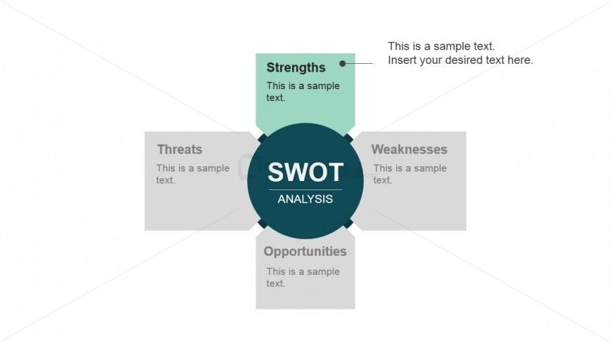 Strengths SWOT Component Flat Design