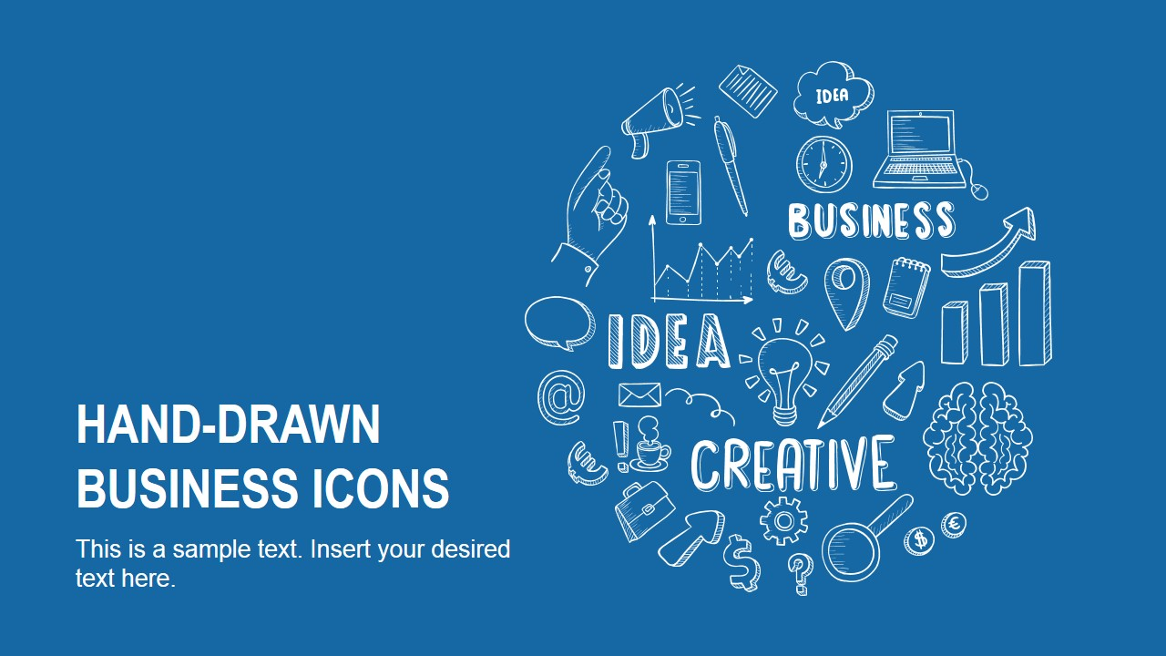hand drawn business icons powerpoint template slidemodel