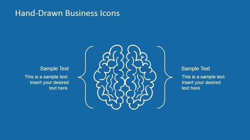 Hand-Drawn Brain Shapes for PowerPoint
