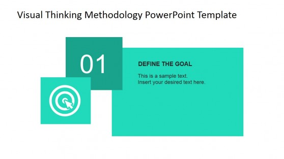 define template in powerpoint - visual thinking methodology powerpoint diagram slidemodel