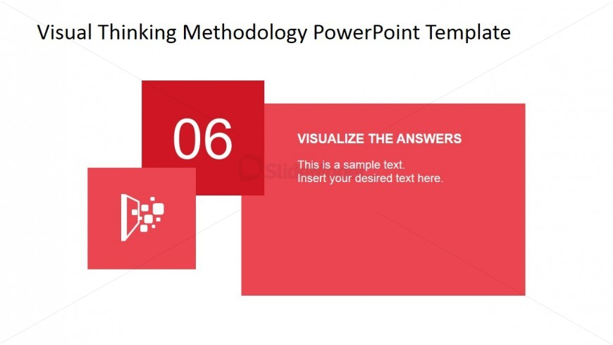 Visual Thinking Answer Visualization Steps PowerPoint Slide